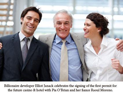 Elliot Janack, Pia O'Brian, and Raoul Moreno