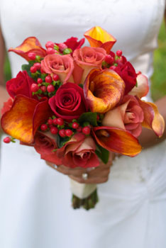 Bouquet in autumn colors