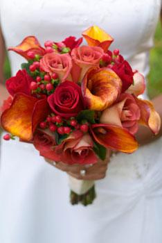 Bouquet in autumn colors
