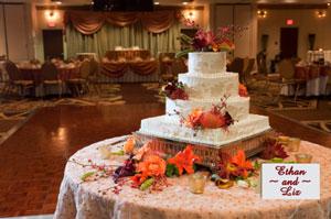 Liz and Ethan's wedding cake