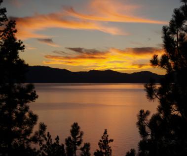 Sunset at Ronan's Lodge