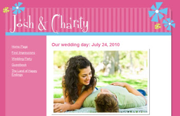 Josh & Charity's wedding website